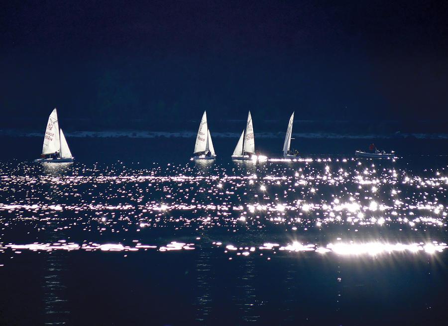 Sailing Photograph - Little Sailing Boats by Lana Cuk