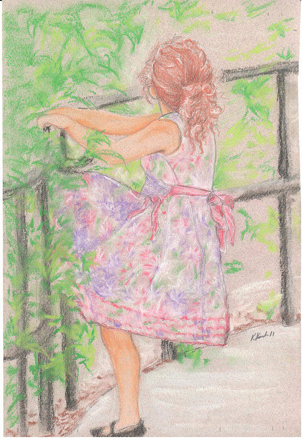 Little Sister Pastel by Kathy Keith