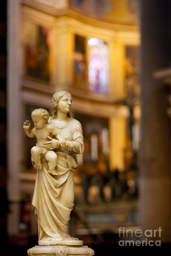 Mother Mary Photograph - Little Statue by Brian Jannsen