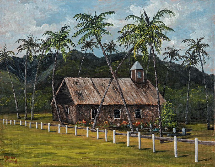 Stone Church Painting - Little Stone Church by Darice Machel McGuire