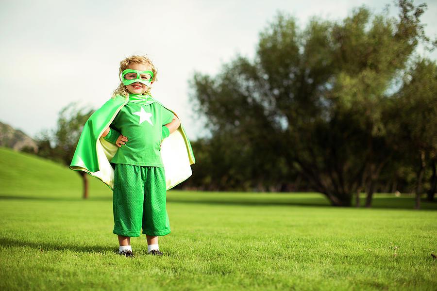 Little Superhero Photograph by Richvintage