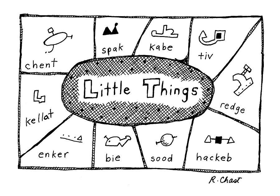 little Things Drawing by Roz Chast