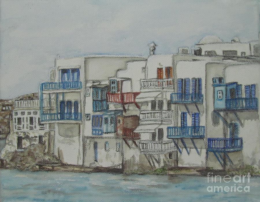 Little Venice Mykonos Greece by Malinda  Prudhomme