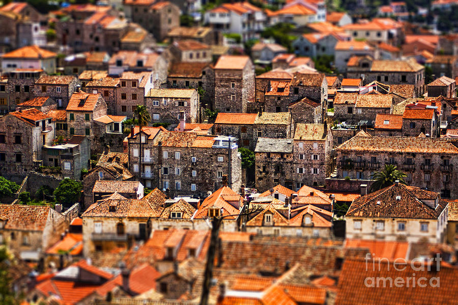 Aerial Photograph - Little Village by Andrew Paranavitana