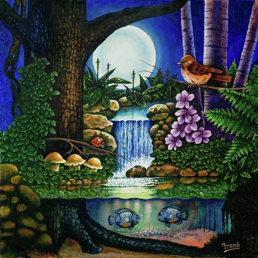 Fantasy Painting - Little World Chapter Full Moon by Michael Frank