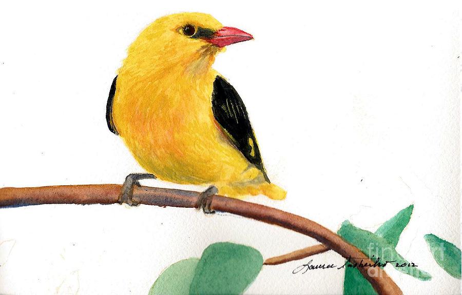 Little Yellow Bird >> Little Yellow Bird Painting By Laura Tasheiko