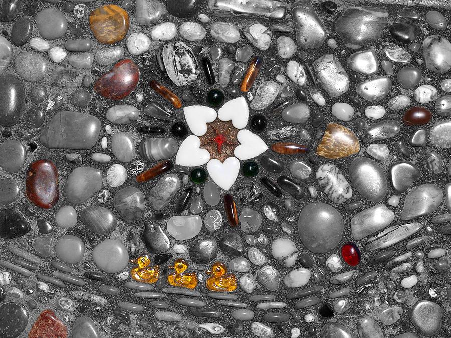 Rocks Digital Art - Little Yellow Duckies by Teri Schuster