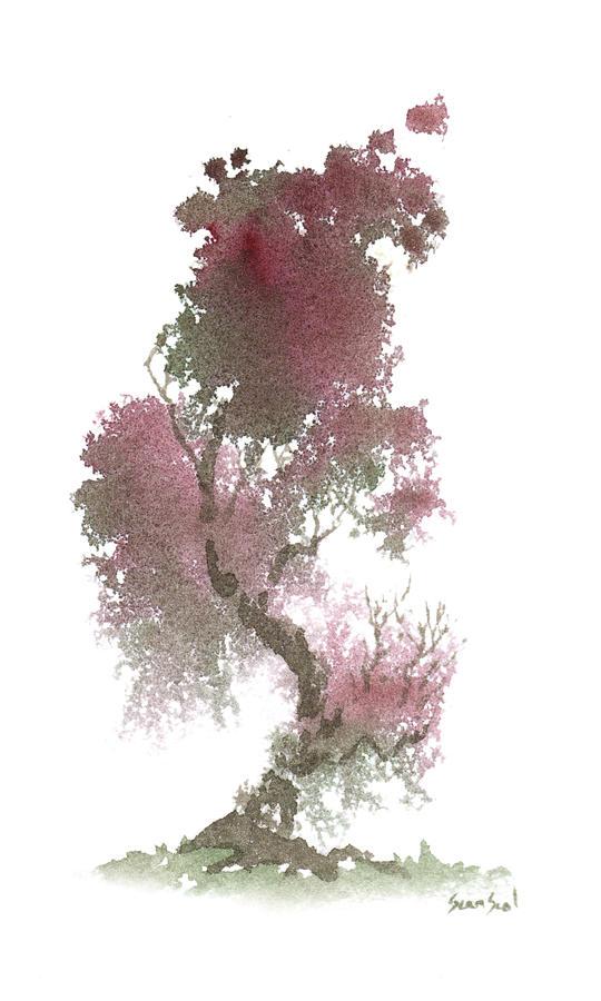 Zen Painting - Little Zen Tree 1117 by Sean Seal