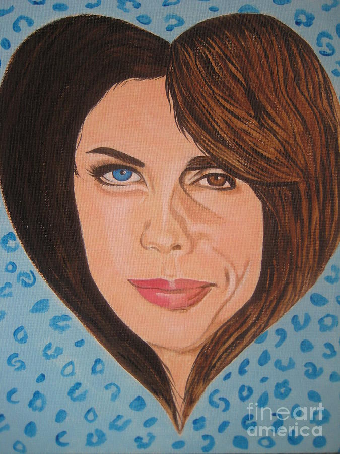 Heart Painting - Liv And Steven Tyler Painting by Jeepee Aero
