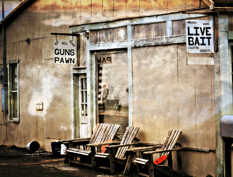 Old Building Photograph - Live Bait by Marty Koch