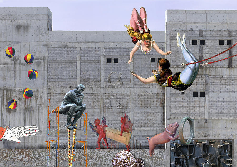 Maraia Digital Art - Live Circus At Heavens Door by Maria Jesus Hernandez