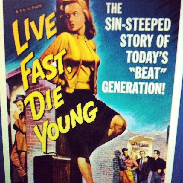 Vintage Photograph - Live Fast Die Young | #vintage #poster by Harrison Stone