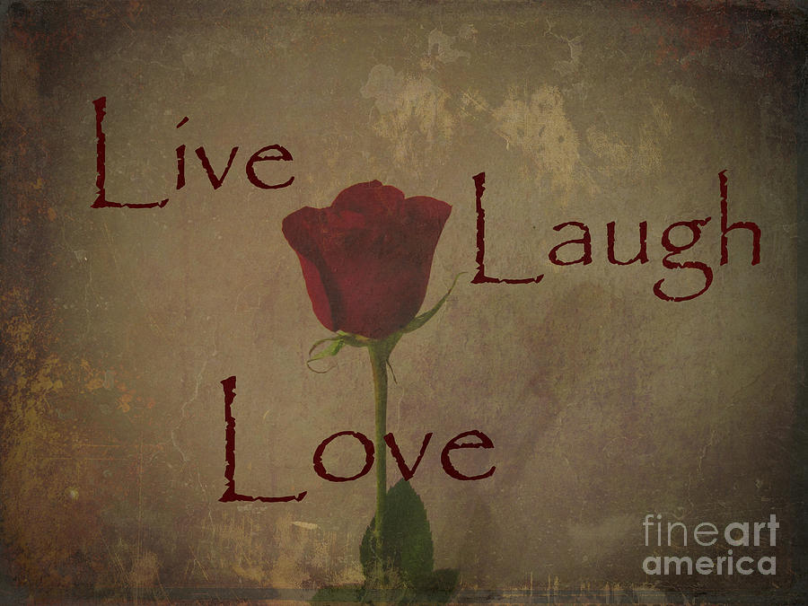 Live Laugh Love And Romance Rose Photograph Art Design