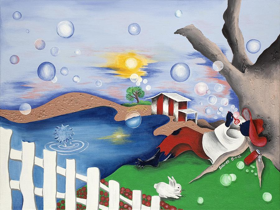Sabree Painting - Live Out The Bubble by Patricia Sabree