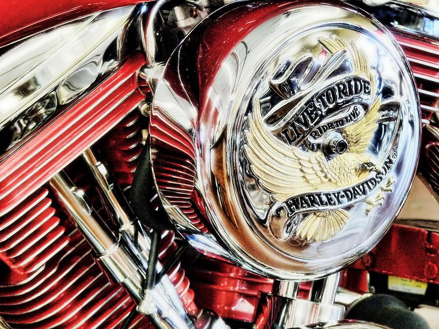 Harley Davidson Photograph - Live To Ride  by Saija  Lehtonen