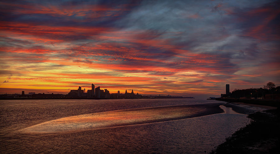 Liverpool Photograph - Liverpool Skyline by Peter OReilly