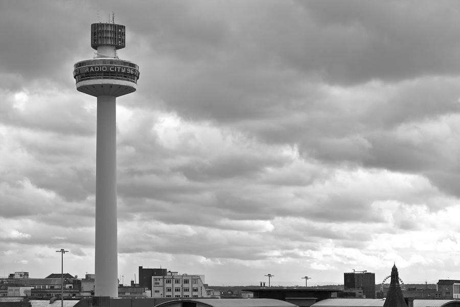 England Photograph - Liverpool Skyline With Radio City Tower by Georgia Fowler