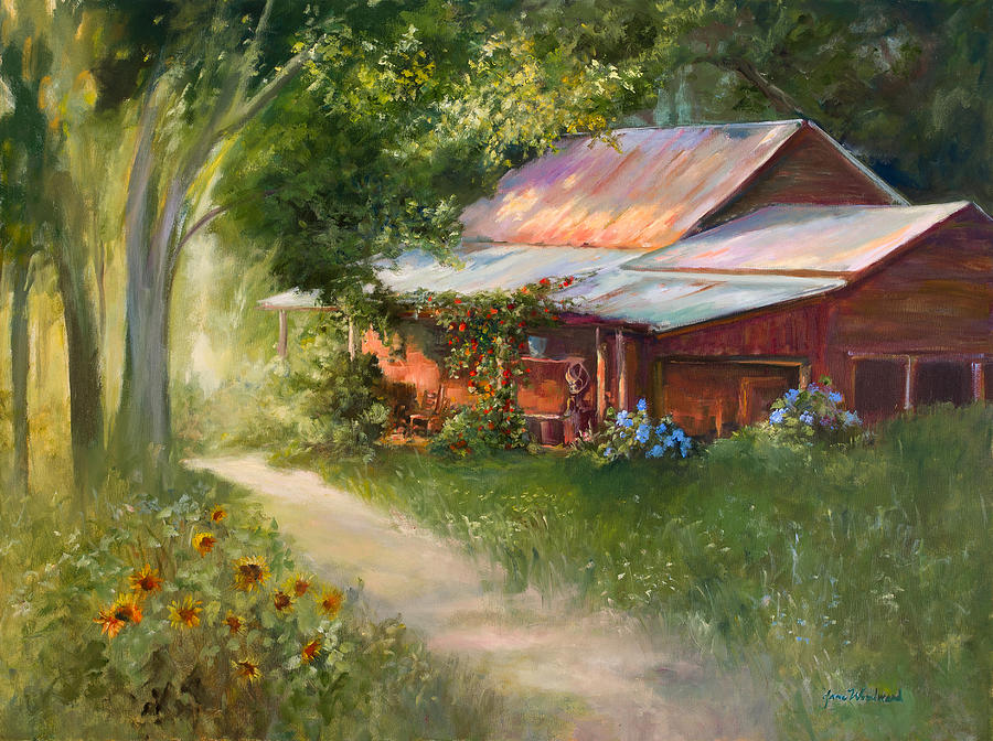 Old Times Painting - Livin Easy by Jane Woodward