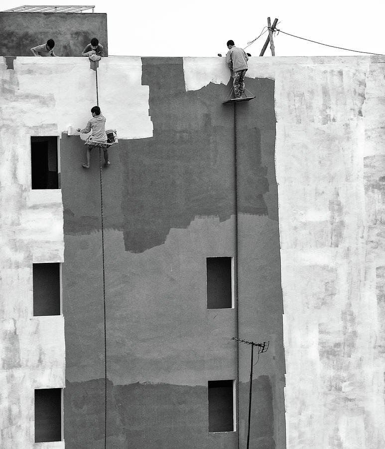 Construction Photograph - Living Beyond The Edge by Wayne Pearson