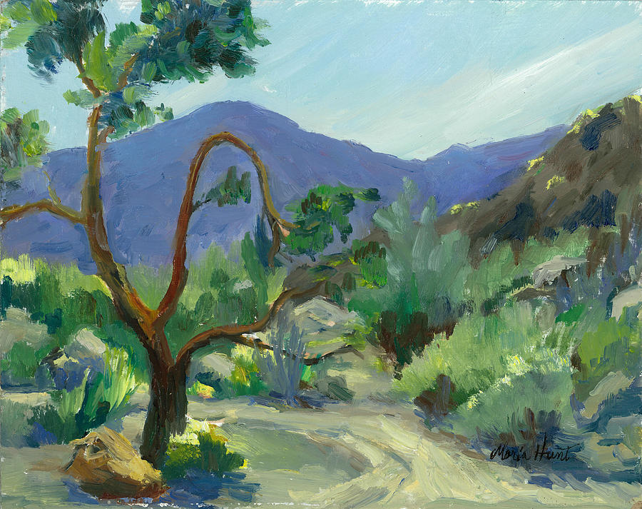 Trees Painting - Stately Desert Tree - Spring Commeth by Maria Hunt