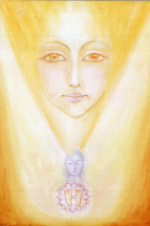 Divine Mother Painting - Living Image Of The Original Power by Shiva Vangara