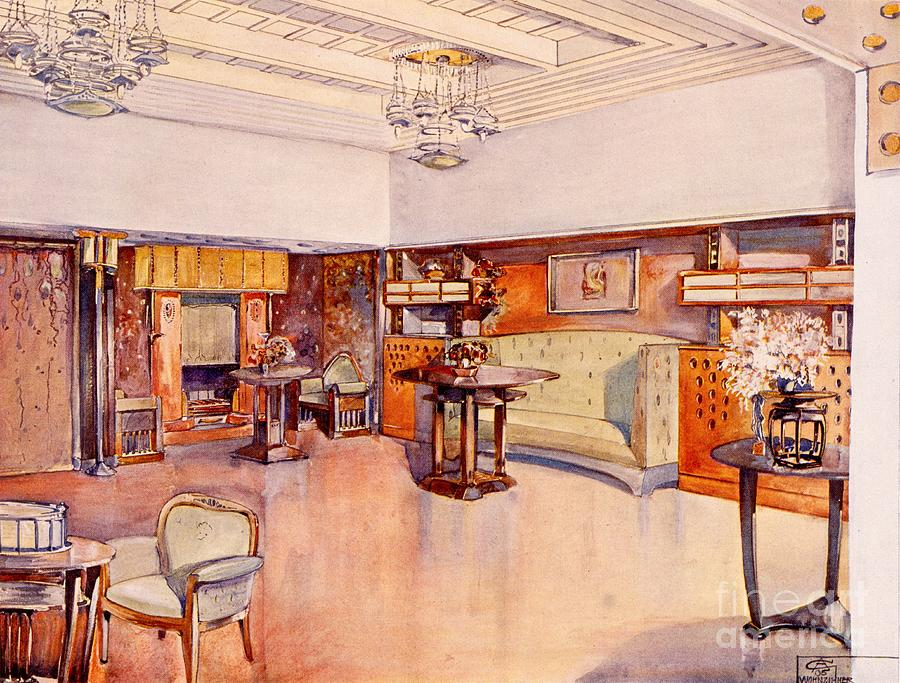 Living Room Drawing - Living Room, 1905 by Alfred Grenander