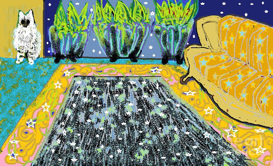 Cat Digital Art - Living Room by Beebe  Barksdale-Bruner