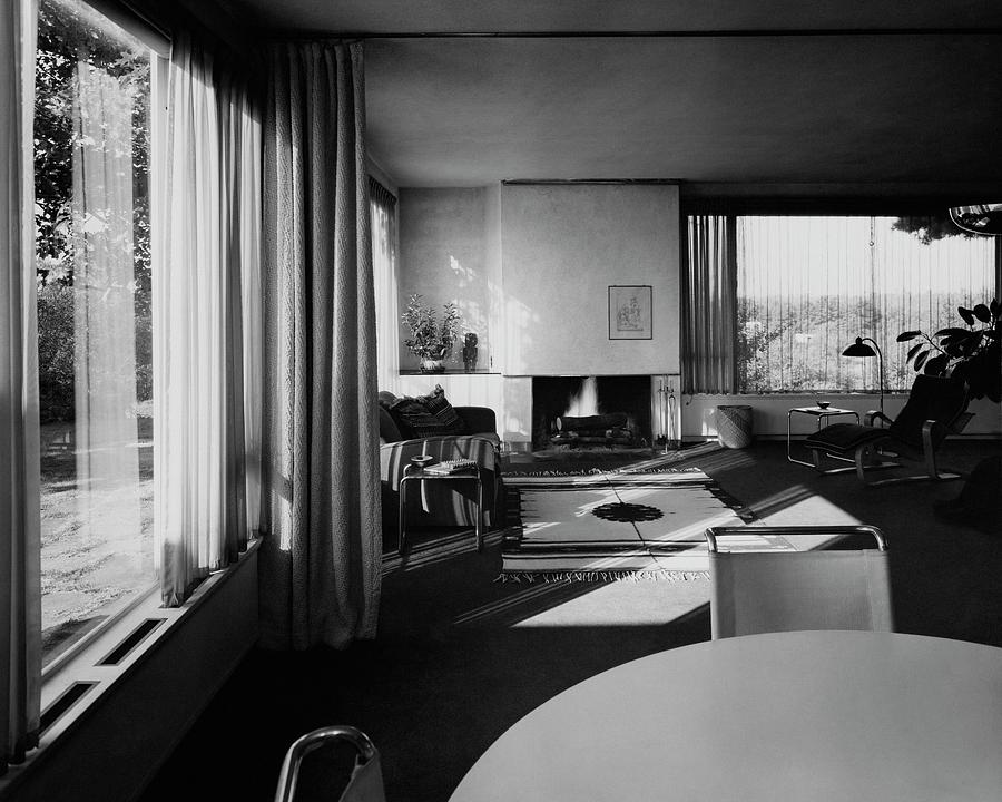 Living Room In Mr. And Mrs. Walter Gropius House Photograph by Robert M. Damora