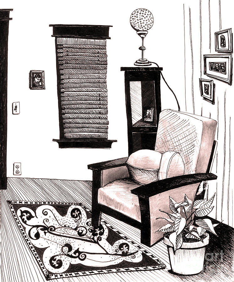 Architecture Mixed Media - Living Room by Michele Fritz