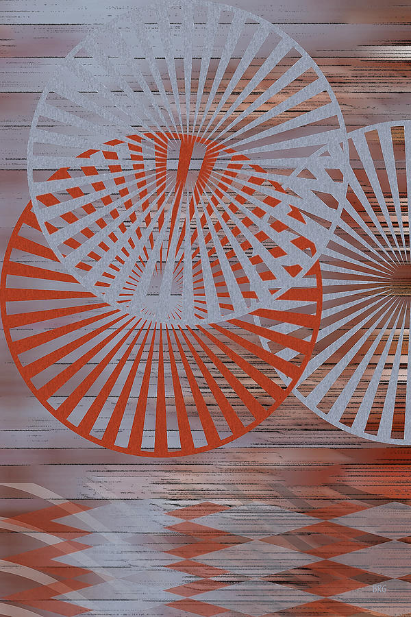 Geometric Abstract Digital Art - Living Spaces No 2 by Ben and Raisa Gertsberg
