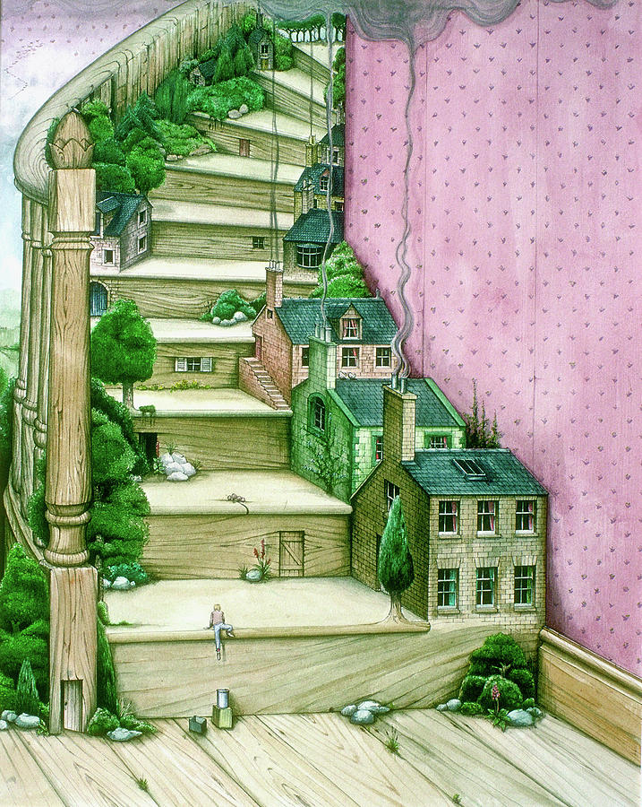 Living Stairs Painting by MGL Meiklejohn Graphics Licensing