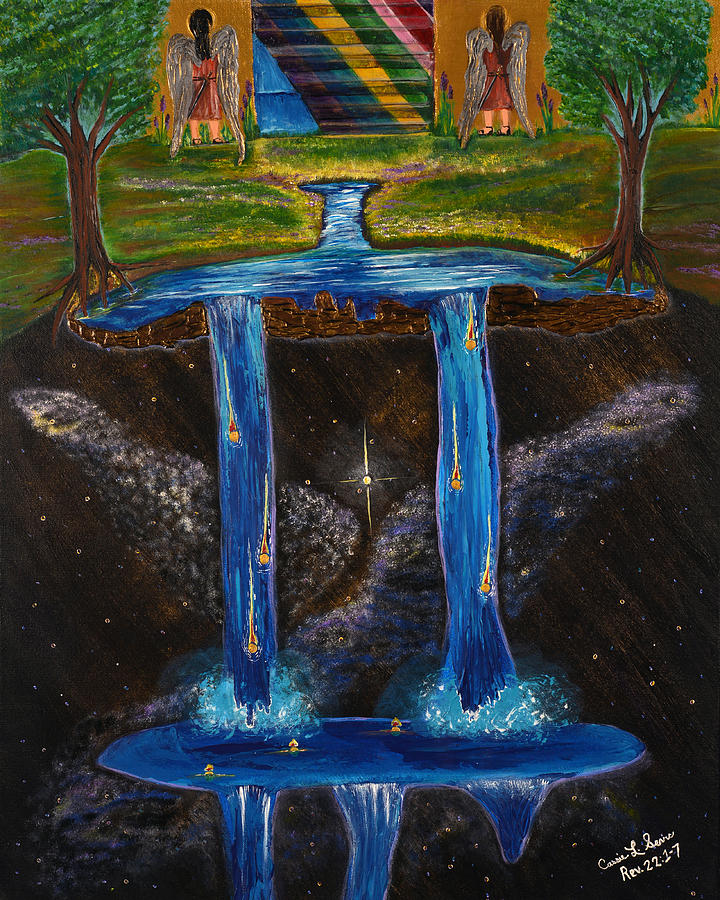 Sears Painting - Living Water by Cassie Sears
