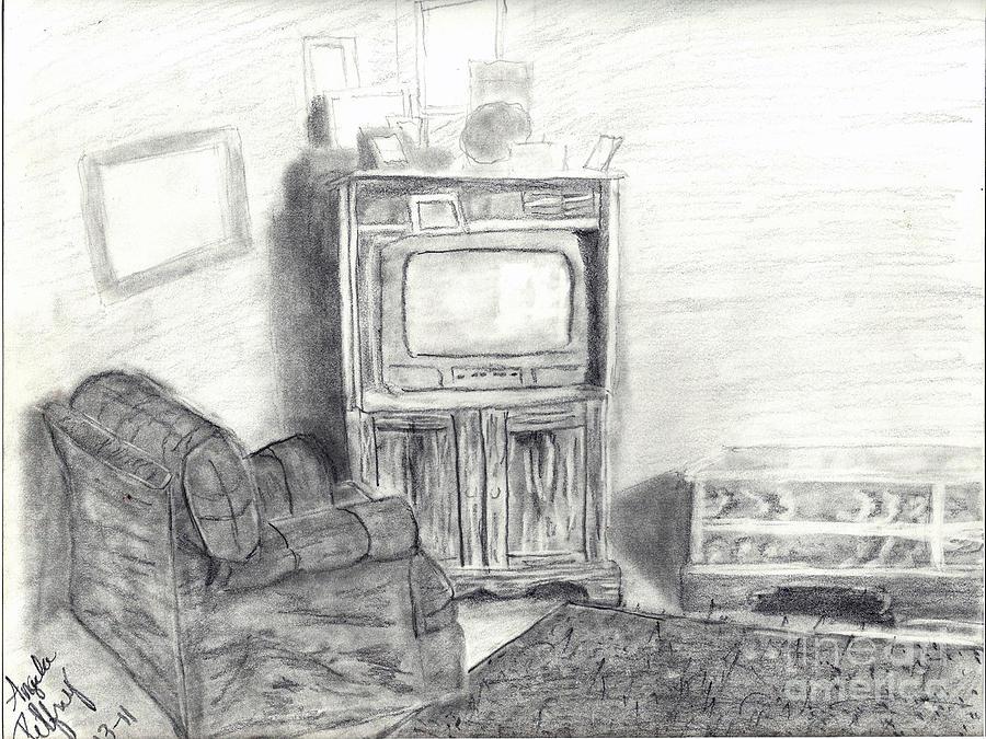 Livingroom Drawing - Livingroom by Angela Pelfrey