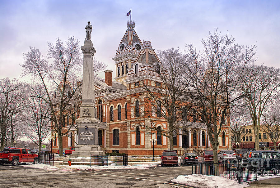 Livingston County Photograph - Livingston County Courthouse 06 Pontiac Il by Thomas Woolworth