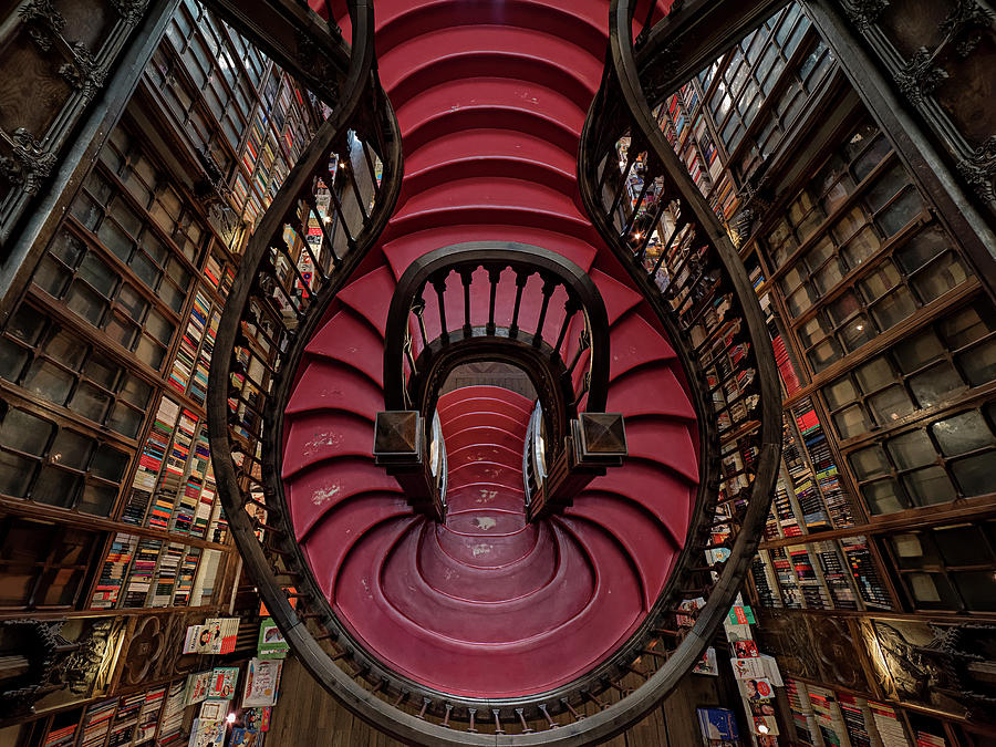 Stairs Photograph - Livraria Lello by #name?