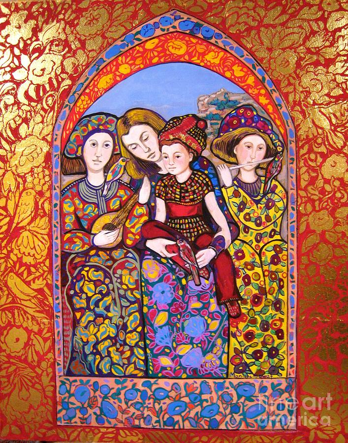 Medieval Painting - Liz and Madeline with music by Marilene Sawaf