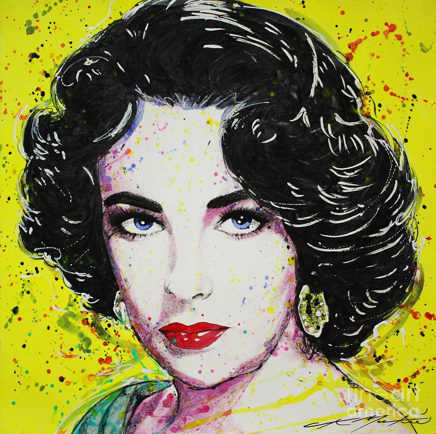 Liz Taylor Painting - Liz by Chris Mackie