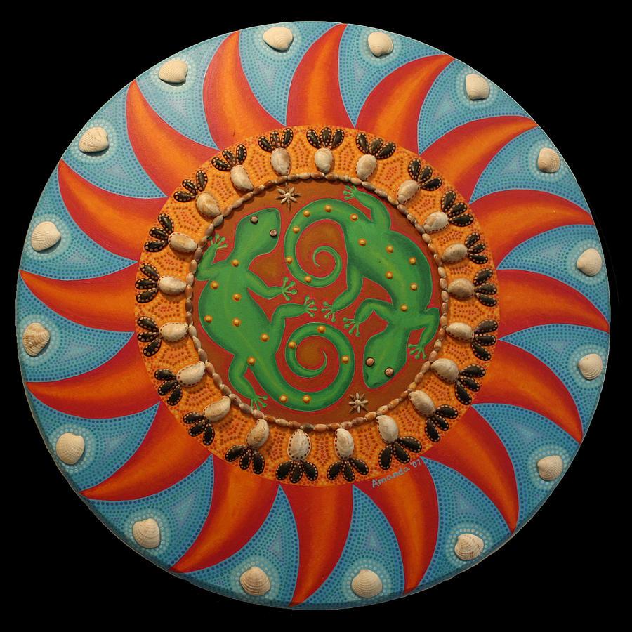 Lizard Mandala by Amanda  Lynne