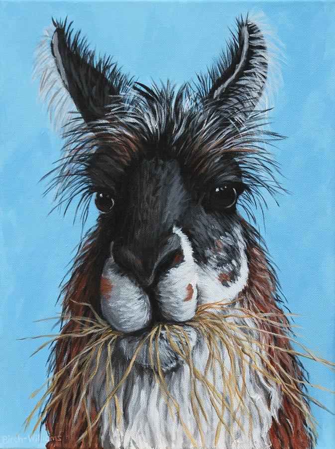 Llama Painting - Llama Portrait by Penny Birch-Williams