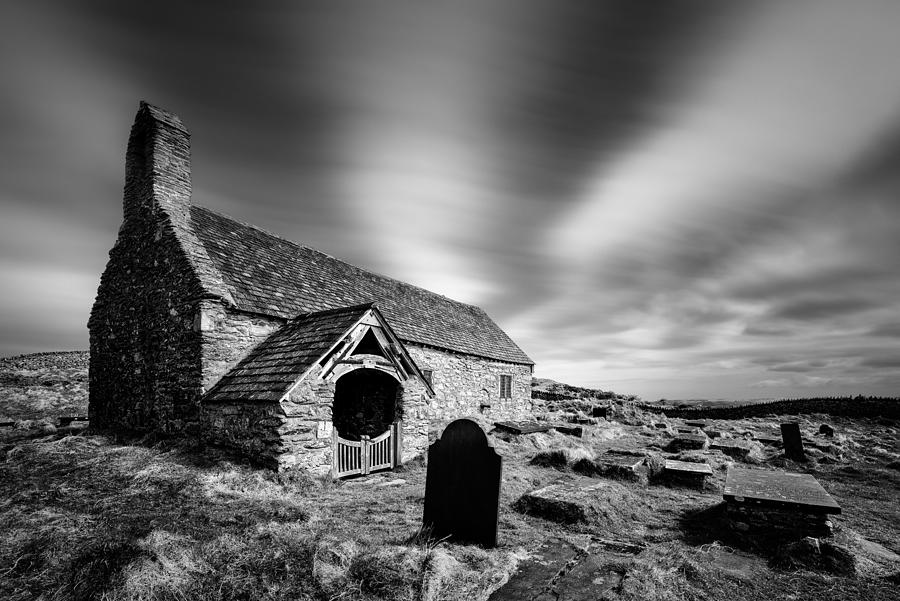 Welsh Church Photograph - Llangelynnin Church by Dave Bowman