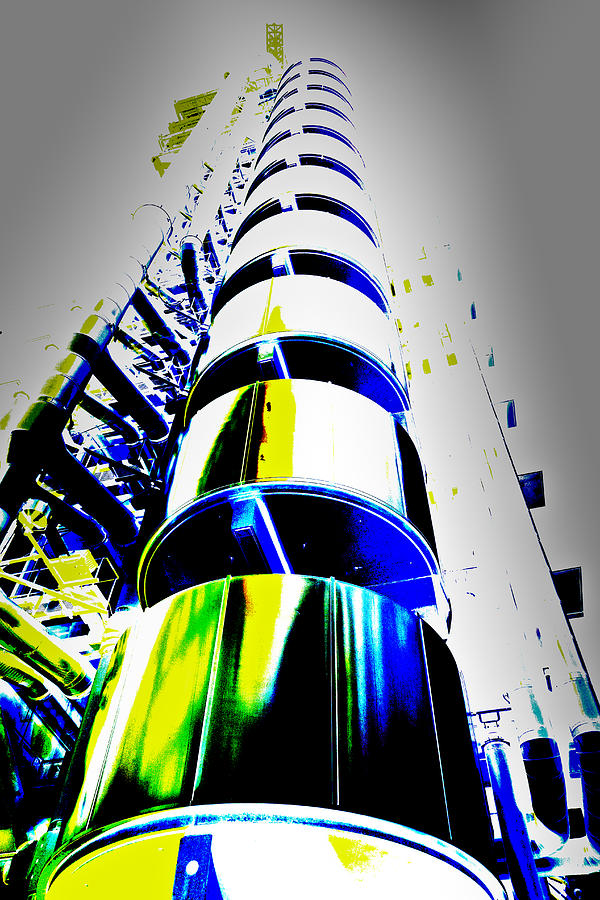 Abstract Digital Art - Lloyds Building London Art by David Pyatt