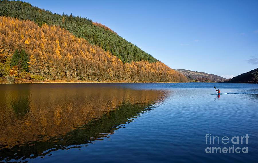 Autumn Photograph - Llyn Geirionydd by Adrian Evans