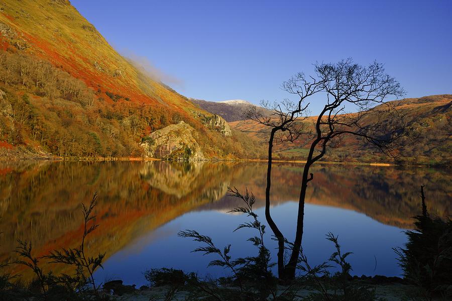 Wales Photograph - Llyn Gwynant Is A Lake In Snowdonia  Wales by Regie Marshall