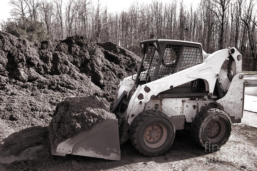 Construction Photograph - Loader  by Olivier Le Queinec