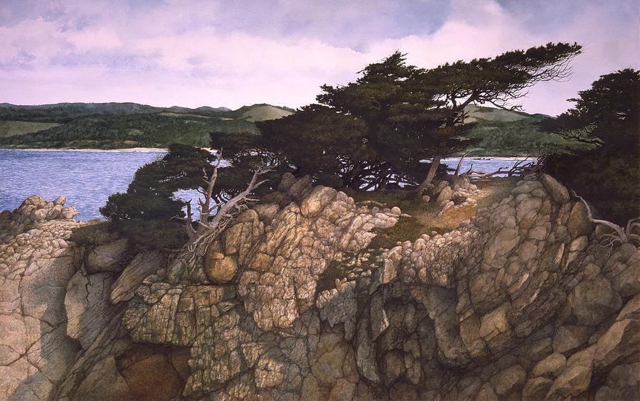 Seascape Painting - Lobos Lookout by Tom Wooldridge