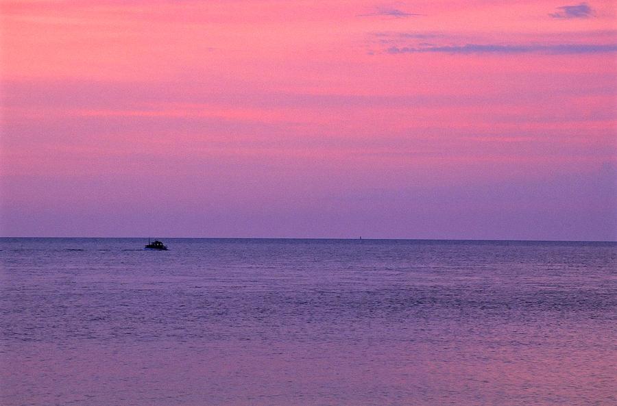 Boat Photograph - Lobster Boat Under Purple Skies by Jeremy Herman