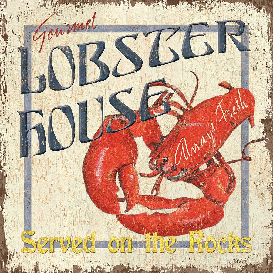 Lobster Painting - Lobster House by Debbie DeWitt