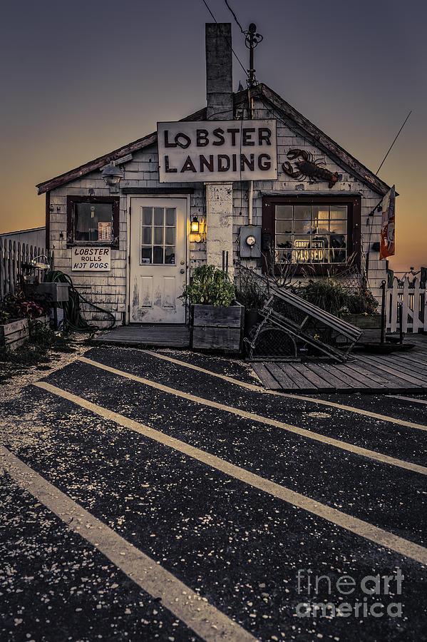 Clinton Photograph - Lobster Landing Shack Restaurant At Sunset by Edward Fielding