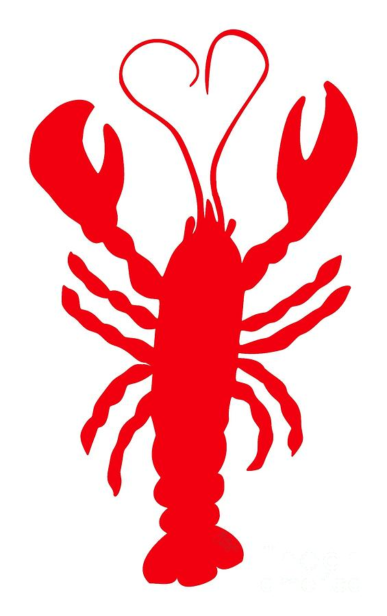 10 Digital Art - Lobster Love Heart Feelers by Julie Knapp