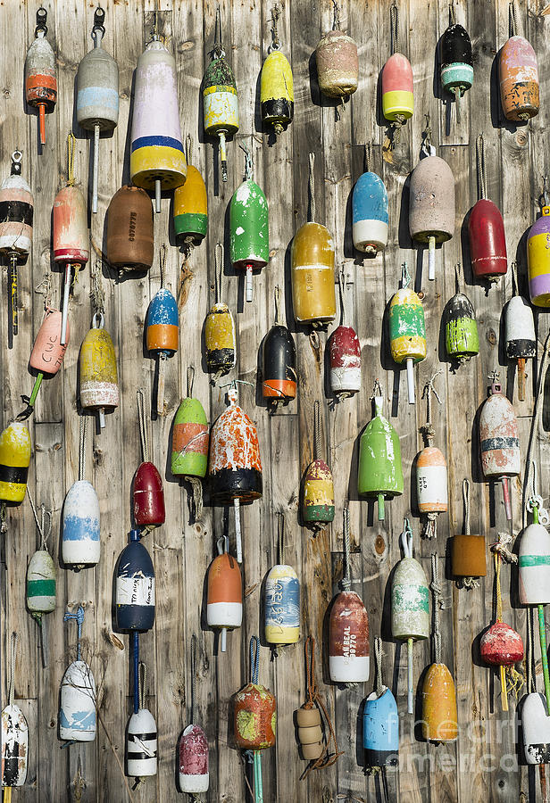 Jonesport Photograph - Lobster Shack Buoys by John Greim